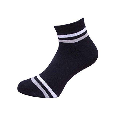 VaCalvers Men's Cotton Ankle Length Socks Combo (Multicolour, Free Size) -3 Pair