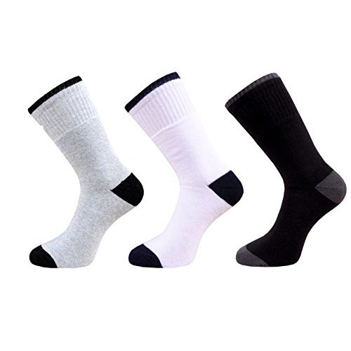 VaCalvers Men's Ankle Length Full Terry Socks Combo (Multicolour, Free Size)