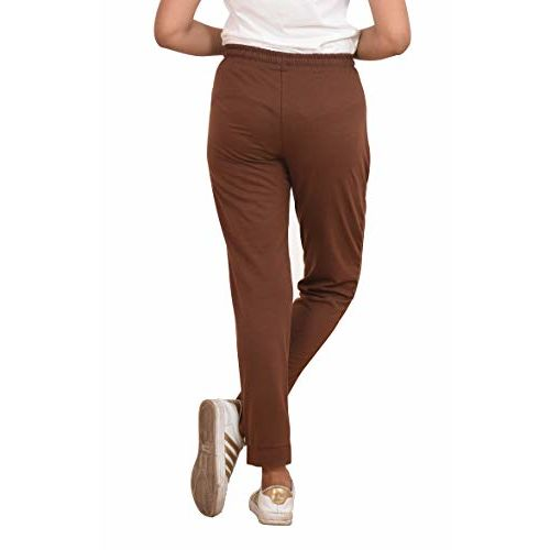 CARBON BASICS Sports Joggers Track Pants for Women with Elastic Waist Closure, Ankle Length Regular Fit with 2 Pockets Zipper