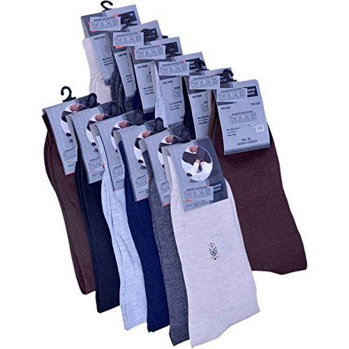 Hitashi Men's Cotton Blend Socks Multicolour_Free Size (Pair of 10)