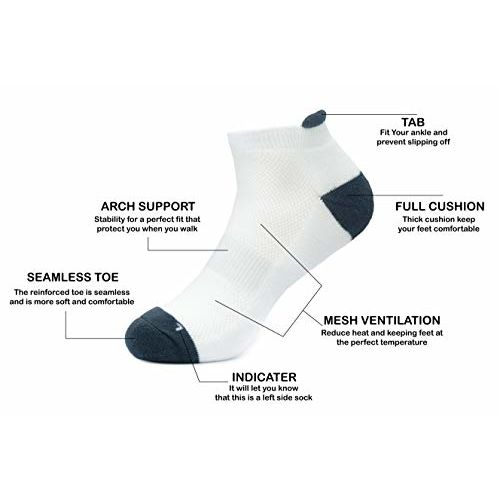 JOY TRULY premium cotton ankle socks for everyday activity,sports running and gym,for men and women,anti odour breathable durable anti blister,free size.