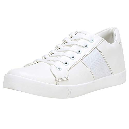 Kraasa White Synthetic Lace Up Sneakers