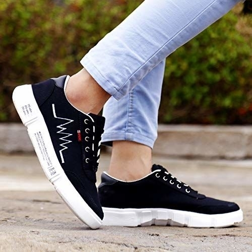 ROCKFIELD Black Casual Sneakers Shoes for Men's