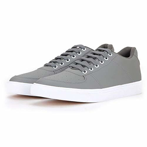 Boltt Gray Canvas Lace Up Sneakers