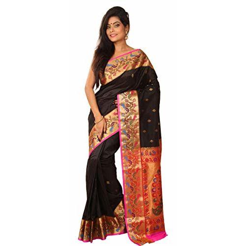 ARUNAFASHIONS Women's Semi Silk paithani Saree