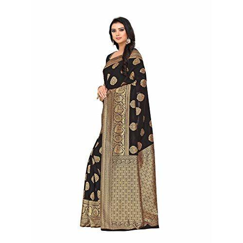 Leeza Store Women's Banarasi Jacquard Kanjivaram Patola Style Saree (Free Size)