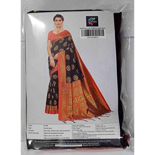 Winza Designer Women's Banarasi Art Silk Saree With Blouse