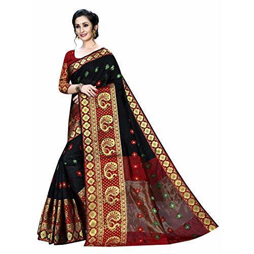 Regolith Multi Colored Designer Banarasi Saree With Blouse Piece