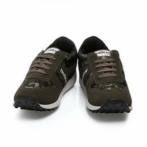 Unistar Olive Synthetic Lace Up Running Shoes