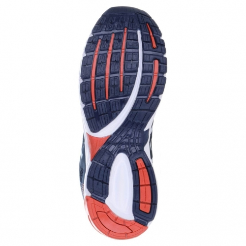 Lancer Navy Blue Mesh Lace Up Running Shoes