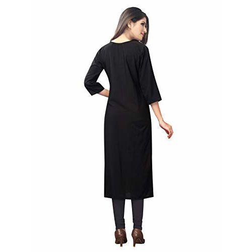 1 Stop Fashion Women's Multi-Coloured Crepe Knee Long W Style Kurtas/Kurti Combo (Set of 6)