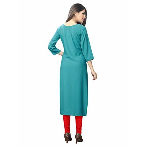 1 Stop Fashion Women's Multi-Coloured Crepe Knee Long W Style Kurtas/Kurti Combo (Set of 6)