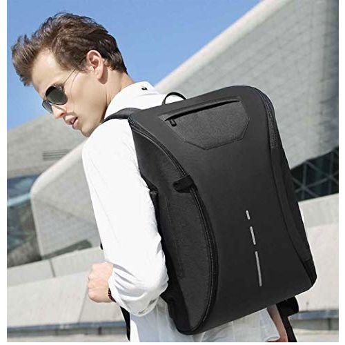 Vebeto 360 Degree Open Anti Theft Backpack Briefcase Inbuilt USB Charging Port 15.6 Inch Laptop Bagpack 30 Ltrs School College Office Casual Waterproof Bag (Black)