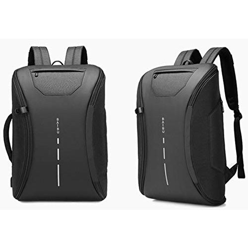 Vebeto 360 Degree Open Anti Theft Backpack Briefcase Inbuilt USB Charging Port 15.6 Inch Laptop Bagpack 30 Ltrs School College Office Casual Waterproof Bag (Black)