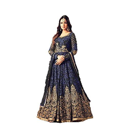 Diva & Diya Women's Embroidered Semi-Stitched Salwar Suit