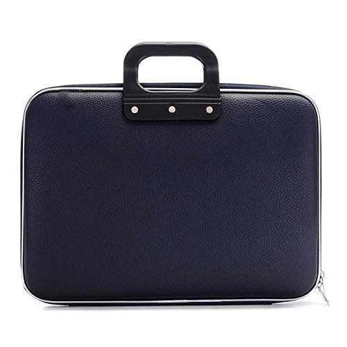 Sterling Cady Collection Durable Briefcase Carrying Case for 15.6 in Laptops/Notebooks (Blue) with Shoulder Strap