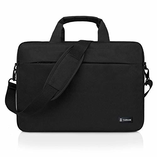 Tarkan Cosmos Water Resistant Padded Laptop Bag for Men Shoulder Briefcase (Black)