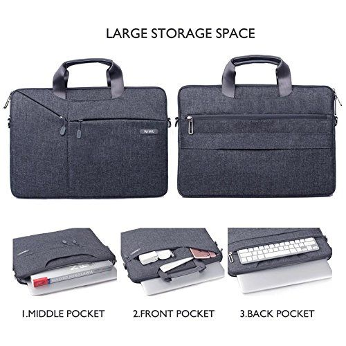 Wiwu Waterproof Nylon Padded 15.6-inch Laptop Sleeve Bag (Grey)