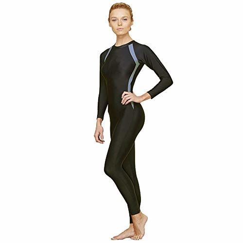 Veloz Swimming Costumes for Women with Chest Pad/Swimsuit/Swimming Costume (Full Length) - 0E