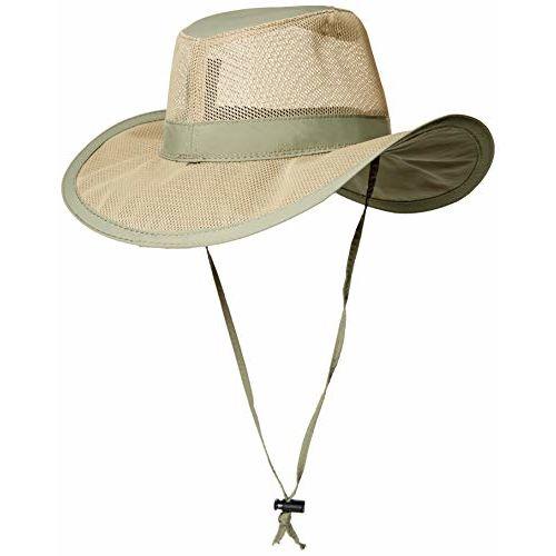 Dorfman Pacific Men's 1 Piece Suplex Pinch Front Safari Hat