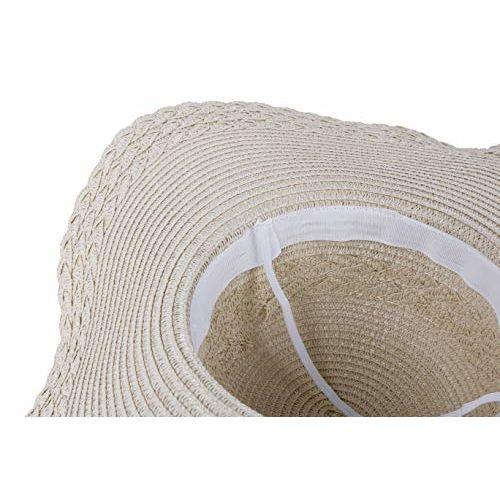 Futurekart Straw Sun Hat Wide Large Brim Beach Floppy Oversize Fold Cap (Beige)