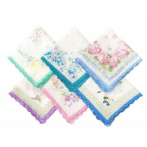 Tex Homz Multicolour Cotton Floral Pattern Handkerchief