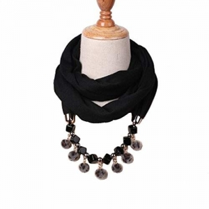 Devin La Long bead necklace fashionable, party-ware Poly-cotton scarf/stole