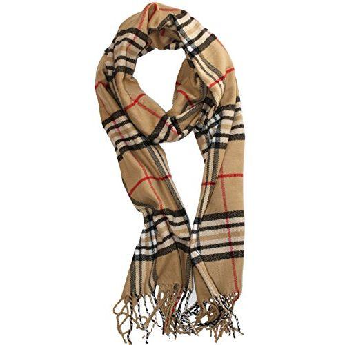 Weavers Villa 100% Soft Viscose Plaid Trendy Checks Summer/Autumn Season Scarves, Stoles, Wraps