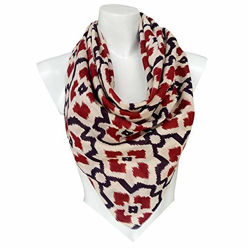 AJS Living Scarves for Women Stylish, Soft Luxurious Elegant for all Season Scarf for Ladies, Girls Cotton Printed Scarf, 100 x 100 cm Square Size