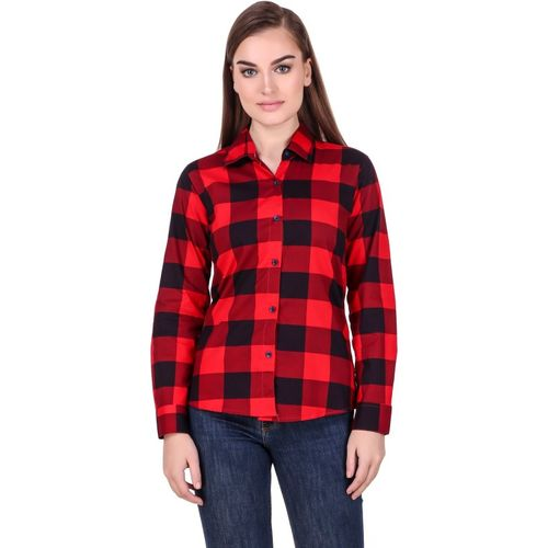 Hi-Living Women's Checkered Casual Red Shirt
