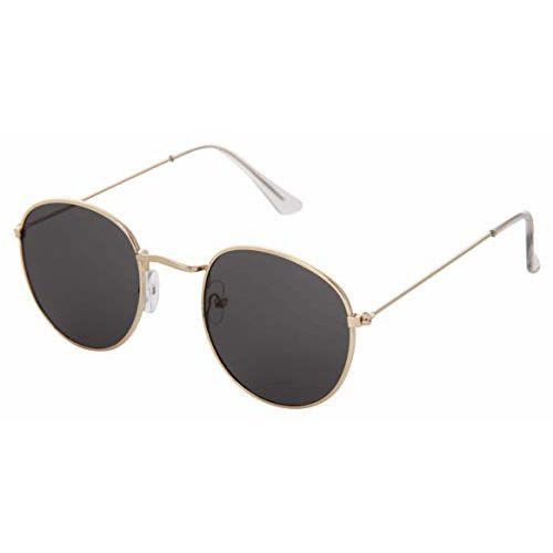 RazMaz Retro Round Vintage Mirrored Lens Unisex Sunglasses