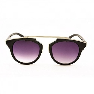 Stacle Geometric Browline Retro Round Unisex Sunglasses (ST7072 58 Multiple Colours)
