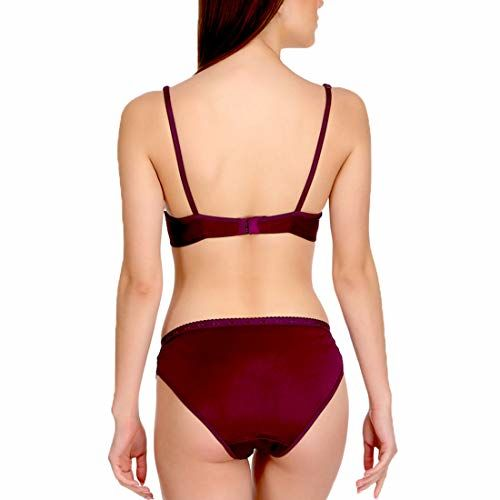 Urbaano Katty Bridal Bra & Panty Set for Women - Purple Crafted Out of Polyamide & Lace