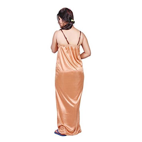 Bailey Sells Embroidery Printed Satin Night Gown