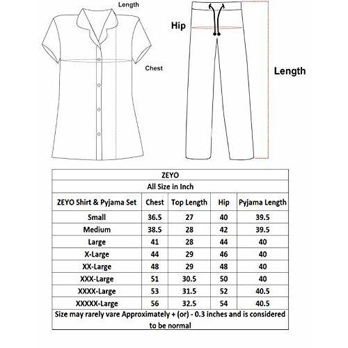 ZEYO Women's Cotton Navy Blue & Pink Heart Print Night Suit