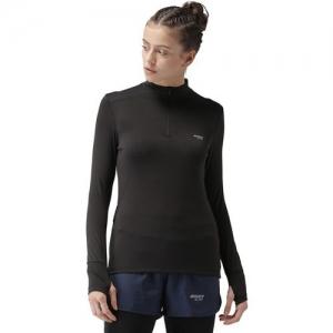 2Go Solid Women Turtle Neck Black T-Shirt