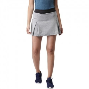 2GO Solid Women Skorts Grey Skirt
