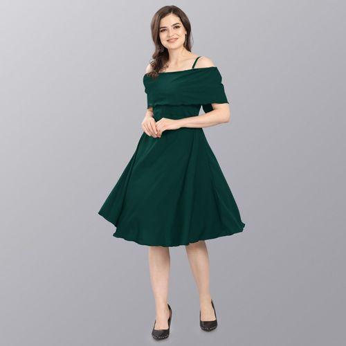 Sheetal Associates Women A-line Green Dress