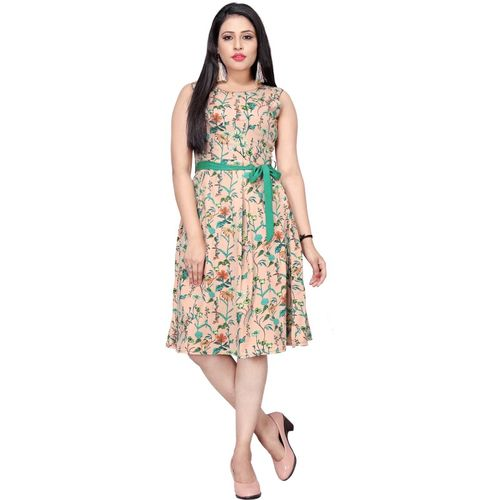 B4U Women A-line Multicolor Dress