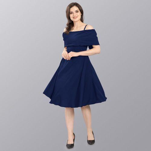 Sheetal Associates Women A-line Blue Dress