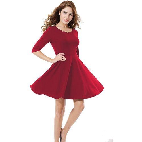 Addyvero Women A-line Red Dress