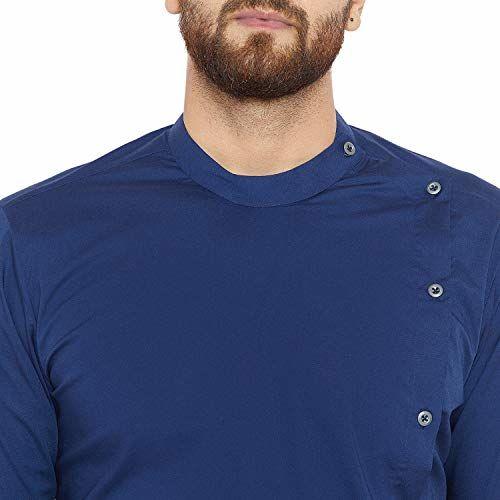 See Designs Men's cotton Kurta (SDMDWKT379M_ Blue_ M)