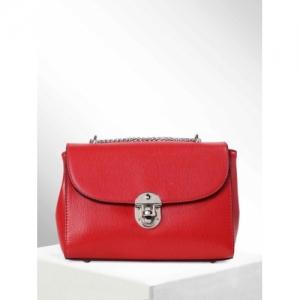 CORSICA Red Polyurethane Solid Sling Bag