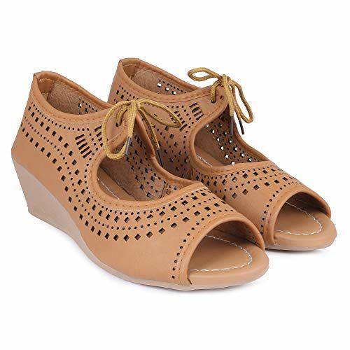 perfect step Tan Comfortable Casual Lace up Sandal