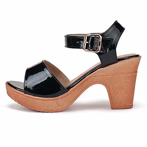 DEEANNE LONDON (DN-80) Black Polyurethane Sandal