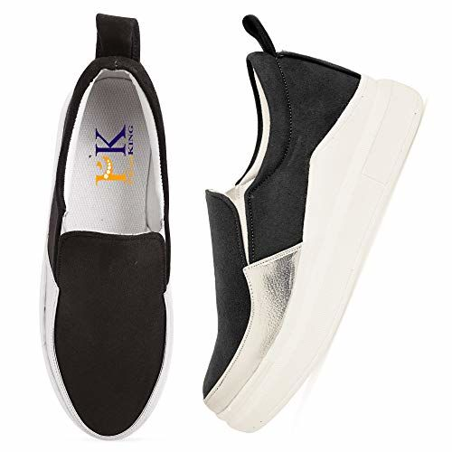 PrasKing High Top Slip On Sneaker Shoes for Women