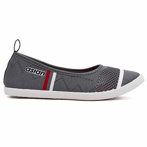ASIAN Women's Grey Alexa Casuals,Walking Shoes