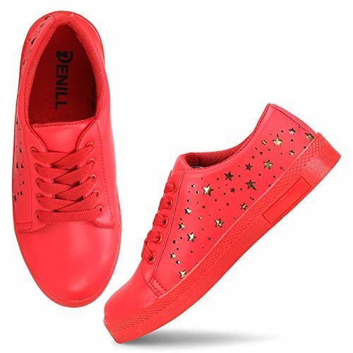 Denill Latest Collection Stylish Laser Cut Star Design Sneakers