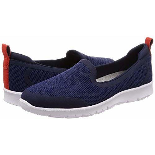 Clarks Women's Step Allena Lo Navy Textile Sneakers
