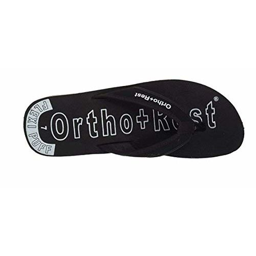 Ortho + Rest Black Slip On Fashion Slippers